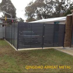 Enduit Poewder Secruity soudé et la sécurité de l'aluminium Clôtures de jardin en acier inoxydable à lattes et panneau de clôture de la barre de garde de rambarde Wire Mesh Post Rail