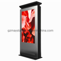 "Floor Stand 43' 55''65"" High Brightness Outdoor Vertical Digital Signage Totem WiFi LCD Advertising Display Kiosk Touch Screen Monitor with Android / Windows"