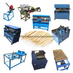 A linha de produtos palitos de madeira churrasqueira Stick fazendo a máquina