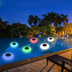 С ПЛАВАЮЩЕЙ ЗАПЯТОЙ декоративного освещения солнечного света плоский мяч в бассейн