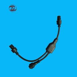 Mâle et femelle 2 broches du câble du connecteur étanche Y