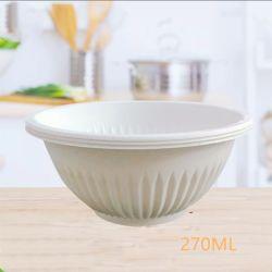 Recipiente de almidón de maíz ecológico vajillas desechables biodegradables 270ml tazón grande hotel de la desinfección de vajilla desechable