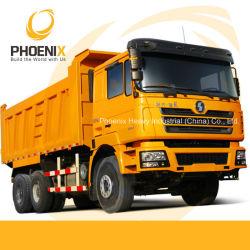 عجلات شاحنة تفريغ عجلات Shacman 10 عجلات شاحنة قلابة مع كابينة الرجل لأفريقيا