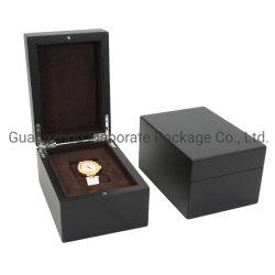 새로운 호화스러운 나무로 되는 시계 포장 상자 검정 나무 상자