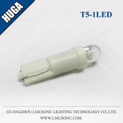 1LED T5 12V DC de bonne qualité filtre en coin de voiture de lumière LED ampoule lampe T5 de lumière LED automatique