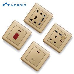 Connettore femmina a parete modulare USB multibcombinazione elettrica con alloggiamento di sostituzione
