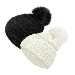 As crianças de Hat filhos adultos de Inverno de Hat Fox Bola de peles com pêlo