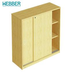 Estantes de madeira e mobiliário moderno com a porta do Gabinete de Arquivo Simples