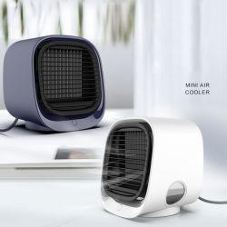 أفضل سعر منزل صغير كمبيوتر محمول مكيف مروحة تبخر الماء الرذاذ هدية مبرد هواء USB صغير محمول شخصي قابل لإعادة الشحن (مروحة-17)