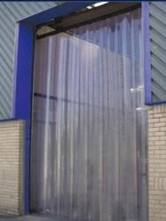Programável transparente porta tira de plástico de PVC transparente