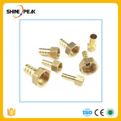 "Accesorios de tubería de púa de metal extremo de manguera de aire combustible Adaptador de manguera de agua a gas Id. de aceite de 4mm-19mm para 1/8'''' de 1/4 3/8""rosca hembra de 1/2'' el cobre"