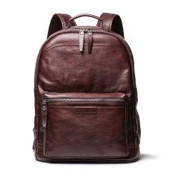 비즈니스 레저 컴퓨터 백팩 가죽 세트 빈티지 대형(대용량) 학교 가방