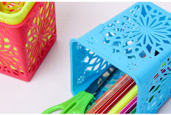 Bureau de vente chaude Crayon magnétique de la boîte de rangement en plastique de l'École de tableau blanc Porte-stylet de marqueur