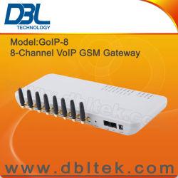 8 canales GSM Gateway VoIP con 8 tarjetas SIM (GoIP-8)