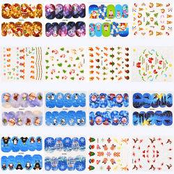 Drucken-anhaftende Nagel Sticker&Decal Dekoration des Weihnachten45pcs/kit für Festival-Nagel-Kunst-Schönheit