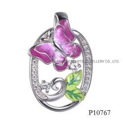 Farfalla dello smalto dei monili di Hotsale sul pendente d'argento ovale