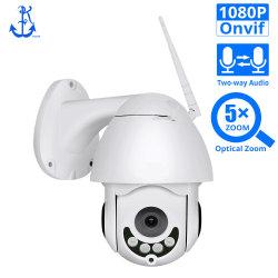 PTZ 5X оптический зум камеры высокоскоростных купольных систем видеонаблюдения Onvif открытый водонепроницаемый 2MP дуплексного аудио 1080P WiFi IP-камера