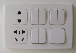 Мода дизайн пластины разъема переключателя (двойной 4 1 socket +2В1)