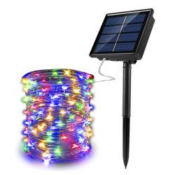 IP65 재충전용 8개의 최빈값 정원 LED 옥외 태양 램프 요전같은 휴일 크리스마스 파티 화환 LED 태양 끈 빛