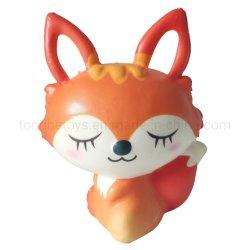 Impressão personalizada Squishy Animal Toy espuma de PU Subida Lenta Squishy Fox Toy