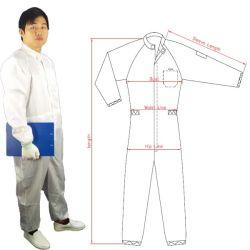 ESD para sala limpia de ropa resistente a productos químicos de prendas de vestir traje de ropa de trabajo uniformes Bata de laboratorio antiestático
