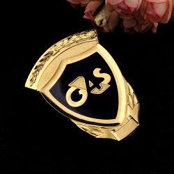 個人化されたカスタムロゴは鋳造物の金張りの記念品のエポキシのバッジの金属の真鍮のエナメルの折りえりPinを停止する
