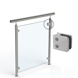 Maßgeschneiderte Edelstahl Zink-Legierung Aluminium Deck Veranda Treppe Geländer Aus Glas Balustrade Baluster Fittings Abstandhalter-Befestigungsteile