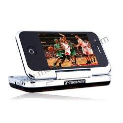 Quadband Dual SIM WiFi TV Teléfono Móvil Flip Qwerty rotación libre (MAX T3000)