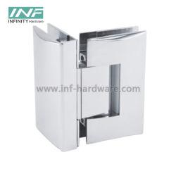 باب تركيب زجاجي بمفصلة زجاجية بزاوية 90 درجة بدون إطار الأجهزة