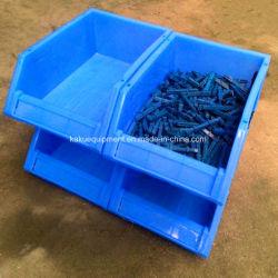 Depósito de plástico empilháveis partes separadas do compartimento de armazenamento