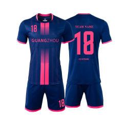 Nuevo modelo en blanco trajes Fútbol Chándal Diseño Personalizado Soccer Jersey uniformes de desgaste