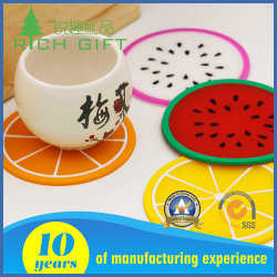 Factory Supply Custom Soft Pvc Leather Round Shape Heat Isolation Cup Coaster