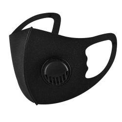 Comercio al por mayor de PM2,5 lavable con válvula de respiración Maskes algodón negro.