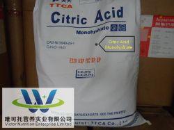 Monohidrato/ácido cítrico anhidro, ácido cítrico para aditivos alimentarios