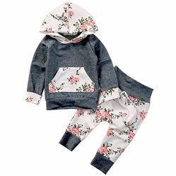 2018 meninas bebê topo de Manga Longa e calça Outfit vestuário para bebé