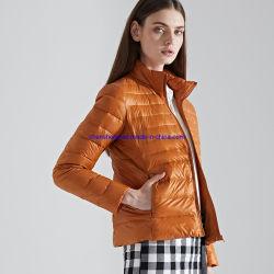 La impresión de logotipo personalizado a las mujeres Down Jacket ultraligero, el 90% Down 10% hacia abajo Down Coat para mujeres