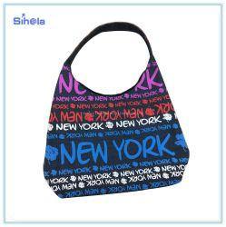 New York Lettre de la conception de l'écran de soie Fleurs imprimer sac à main