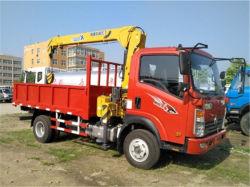 HOWO camiones grúa Volquete con camiones grúa de 3 Ton.