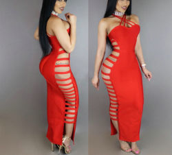 Desligar mulheres Strapless Ombro Rendas de Manga Longa-up Bodycon Backless Wrap Sexy Mini-Curto Vestido de festa Clubwear10673 ESG