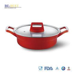 Druckgießende Non-Stick Aluminiumcookware-flache Kasserolle