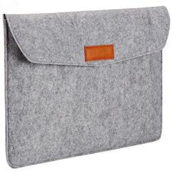 ウールはラップトップがエンベロプの箱の袋によってカスタマイズされた袋を袋に入れるか、またはスリーブを付けるのを感じた