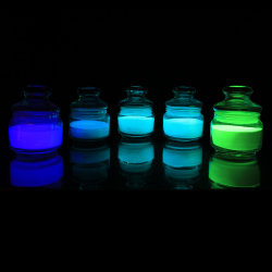 Fábrica china brilla en el pigmento oscuro profesional de 16 años de pigmento fotoluminiscente estroncio en polvo de pigmento fosforescente
