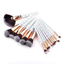 ethnisches Plastikgriff-besonders weiches synthetisches Haar-professionelles kosmetisches Verfassungs-Pinsel-Set der Art-15PCS