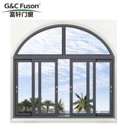 Grande fenêtre coulissante en aluminium pour la construction