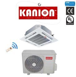 Débit d'air à 4 voies Plafond Plafond Commercial léger de type cassette split R410A, Refroidissement et chauffage climatisation