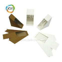 Boîte de filtre en coin sandwich en papier kraft avec fenêtre