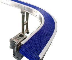 Flache Flexförderband-gebogene modulare Kettenbandförderer-Fertigwaren nehmen Förderband-Förderanlagen-Nahrungsmittelgrad oder Nichtlebensmittelgrad-Beutel-Förderanlage weg