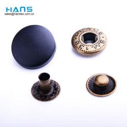 Fornitore all'ingrosso del tasto del metallo dello schiocco della protezione dell'indumento di modo degli accessori per il vestiario