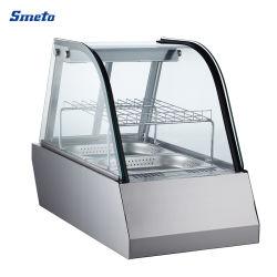 60L 450mm Breiten-Edelstahl-heißer Nahrungsmittelwärmer-Bildschirmanzeige-Schaukasten