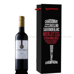 Resistente Cotone Rope Il Vostro Proprio Logo Stampa Una Bottiglia Vino Rosso Imballaggio Sacchetto Di Carta